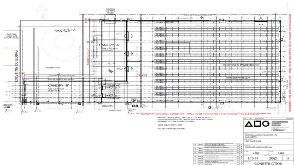 Allinson site plan